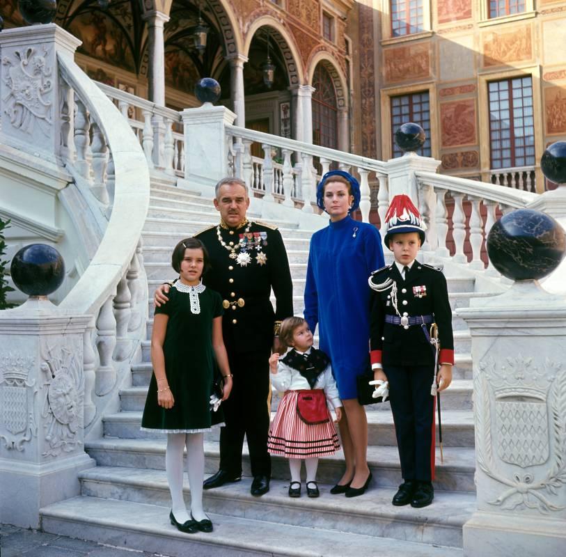 Prince Albert on his mother, Princess Grace