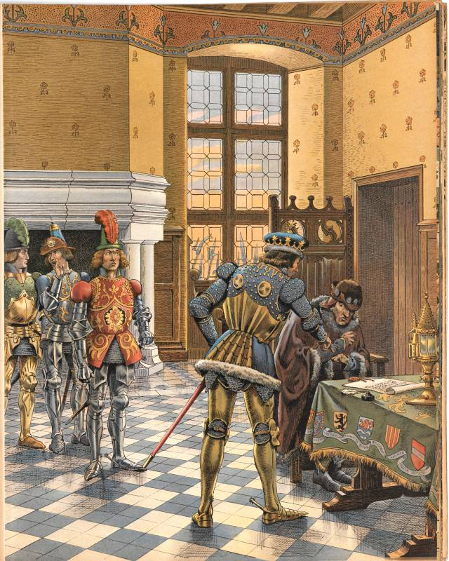 Le traité de Péronne vu par Job et Georges Montorgueil dans Louis XI, Paris, Combet, 1905.