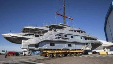 Photo of 65m custom superyacht FB274 taking shape at Benetti and other Monaco news