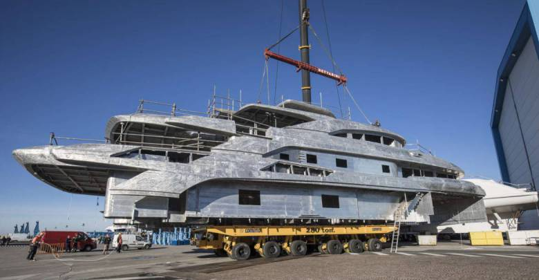 65m custom superyacht FB274 taking shape at Benetti