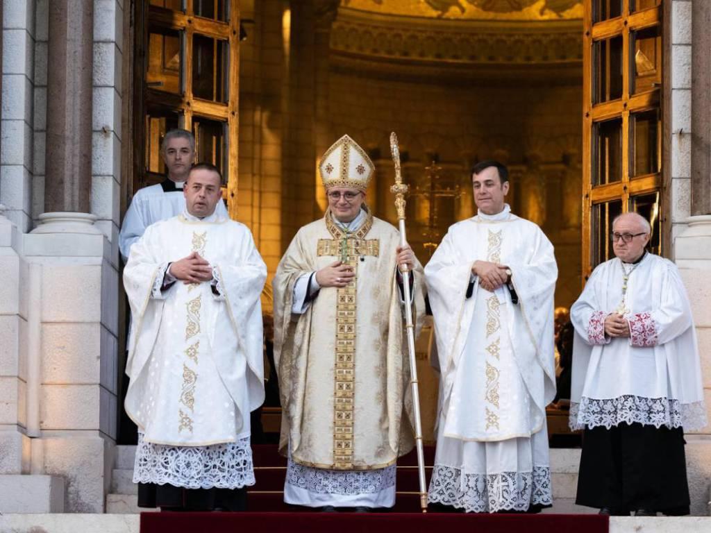 the Principality's Archbishop, Monsignor Dominique-Marie David