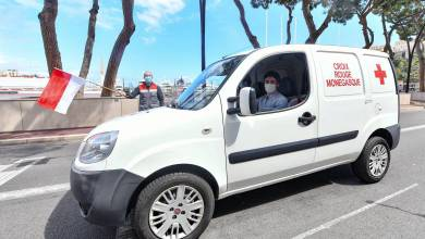 Photo of Formula 1 Grand Prix Winner Charles LeClerc Races to the Support of the Monaco Red Cross
