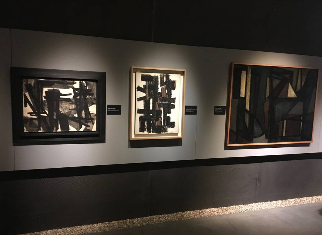 Soulages at the Lympia Gallery in Nice
