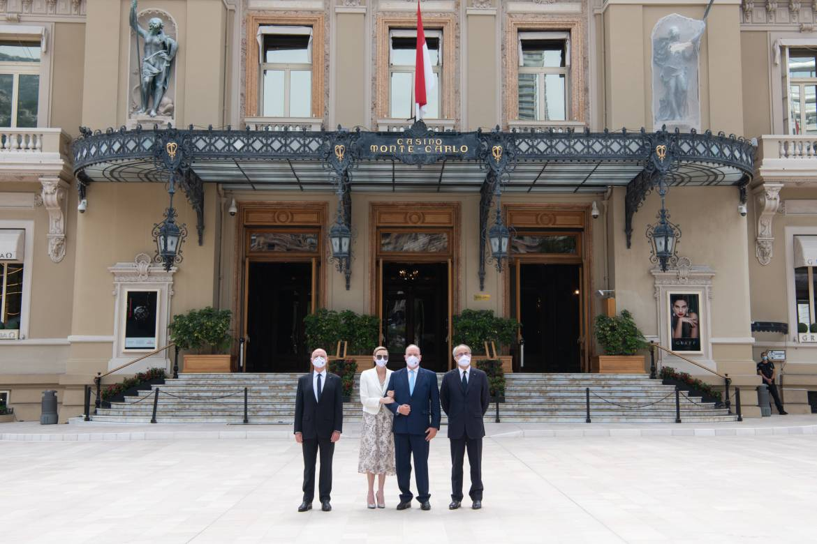 Princely Family Inaugurate New Place du Casino