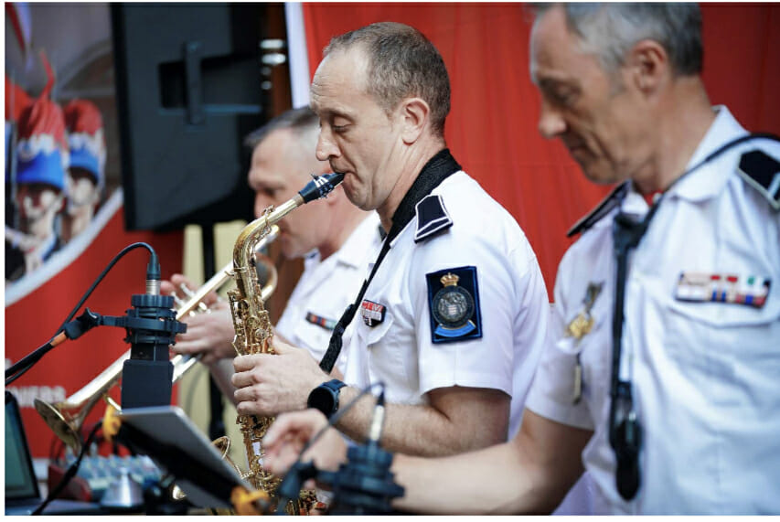 Concert at the Princess Grace Rose Garden: Jazz trio of the Orchester des Carabiniers du Prince