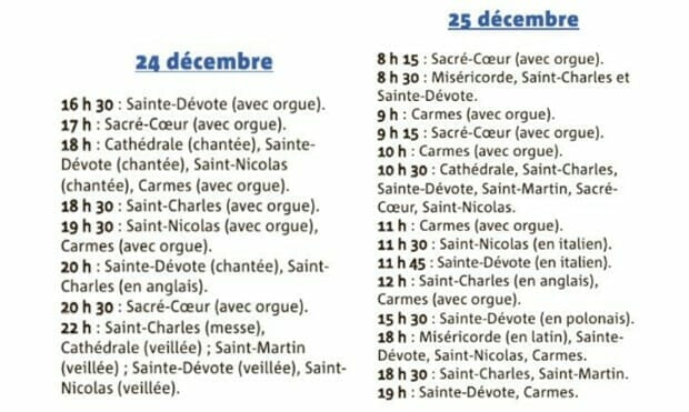 Christmas Masses in Monaco