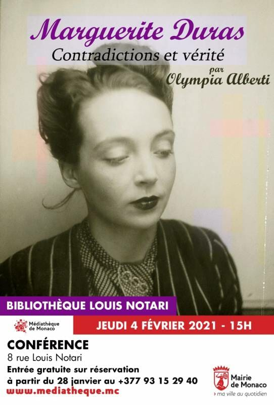"Conference ""Marguerite Duras: contradictions and truth"" by Olympia Alberti"