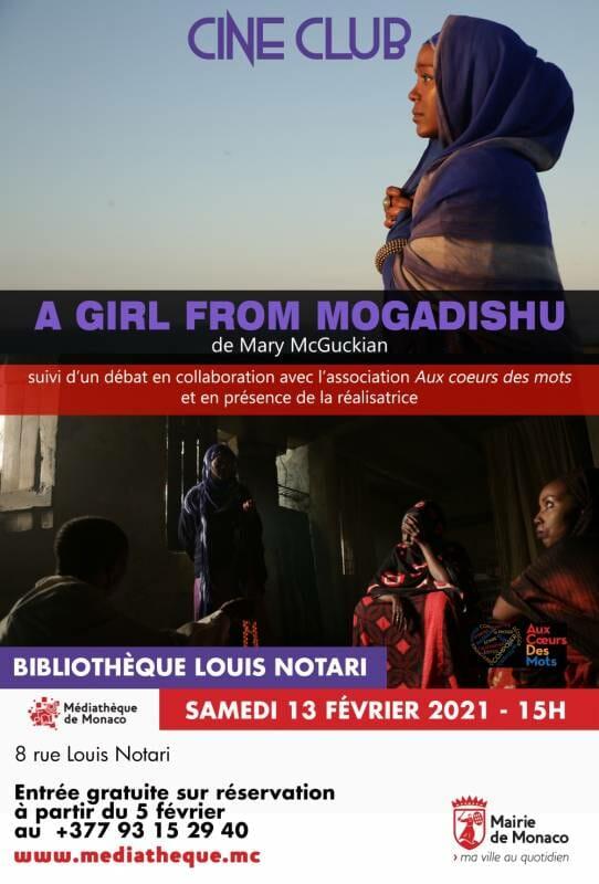 "Screening of the film ""A girl from Mogadishu"" by Mary Mc Gukian"