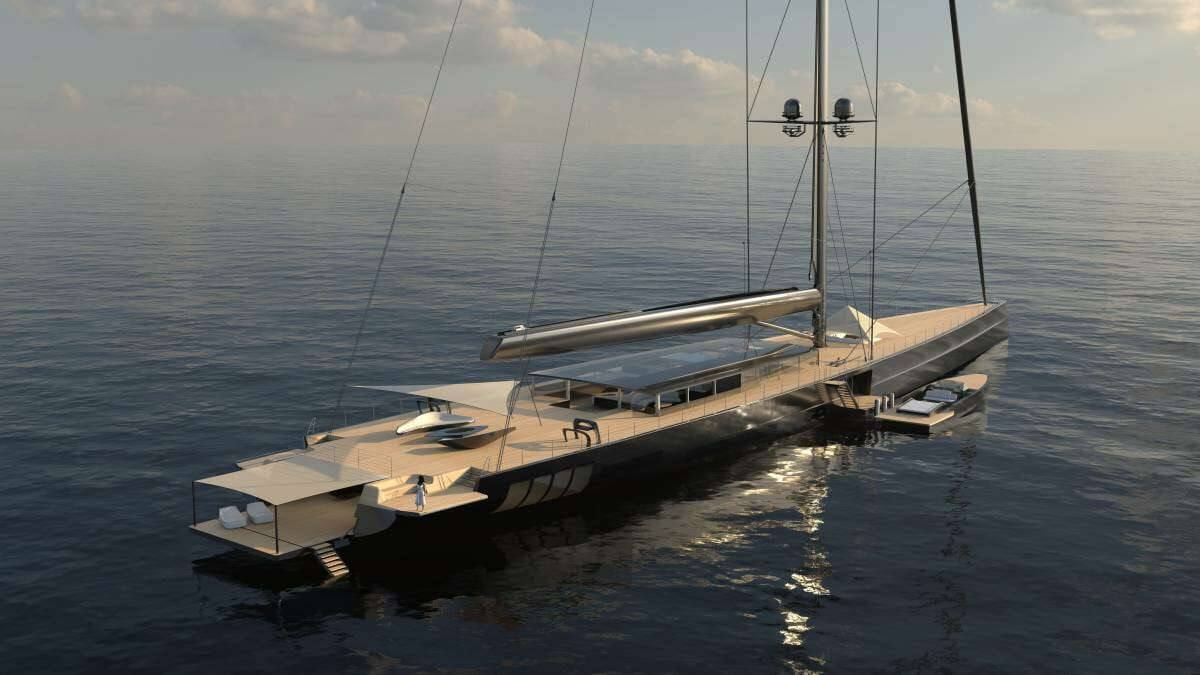 Apex 850 will become the world's largest aluminium sailing yacht