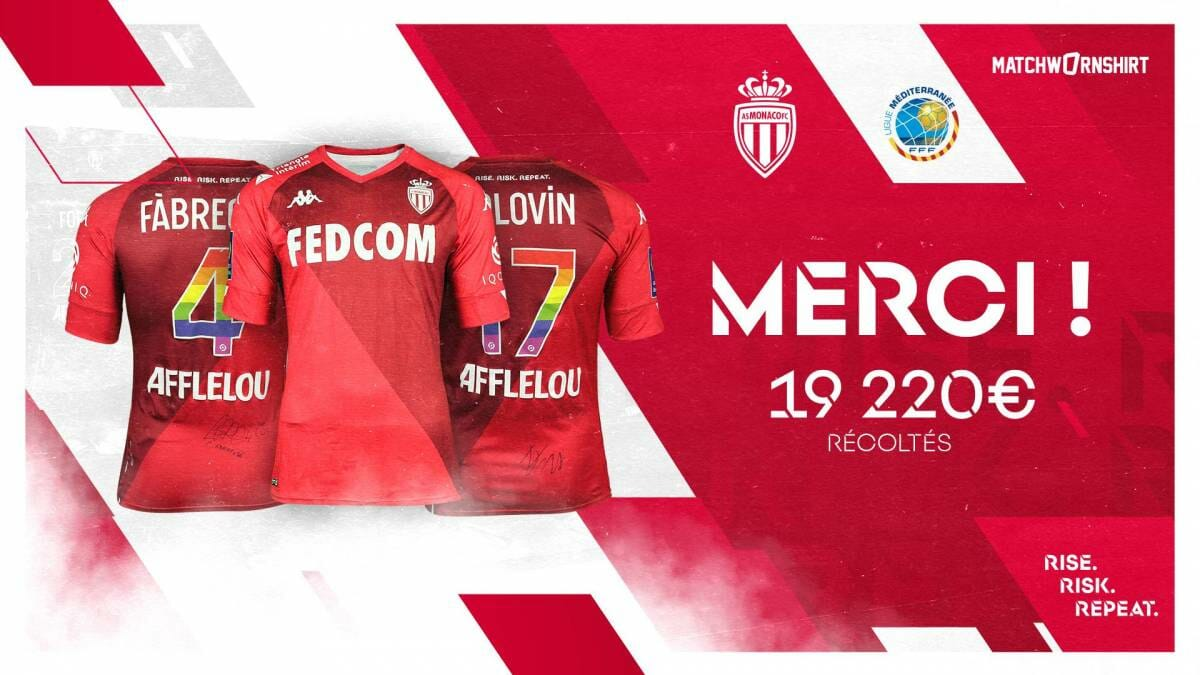 AS Monaco Auctions Jerseys to support Amateur Players