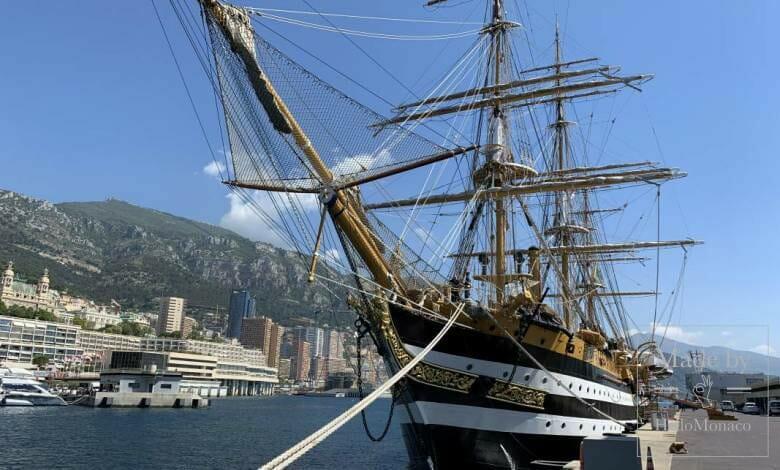 Italian Military Ship 'Amerigo Vespucci' visits Port Hercules