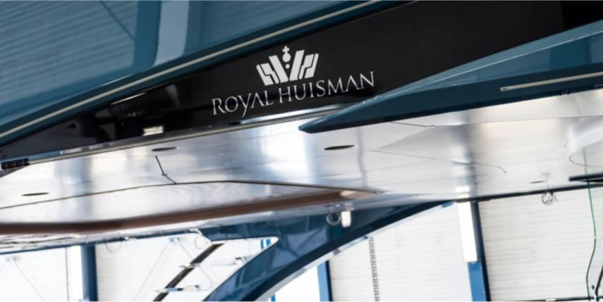 192ft motoryacht PHI at Royal Huisman's