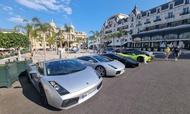 The Lamborghini Club Monaco Lights Up Place du Casino