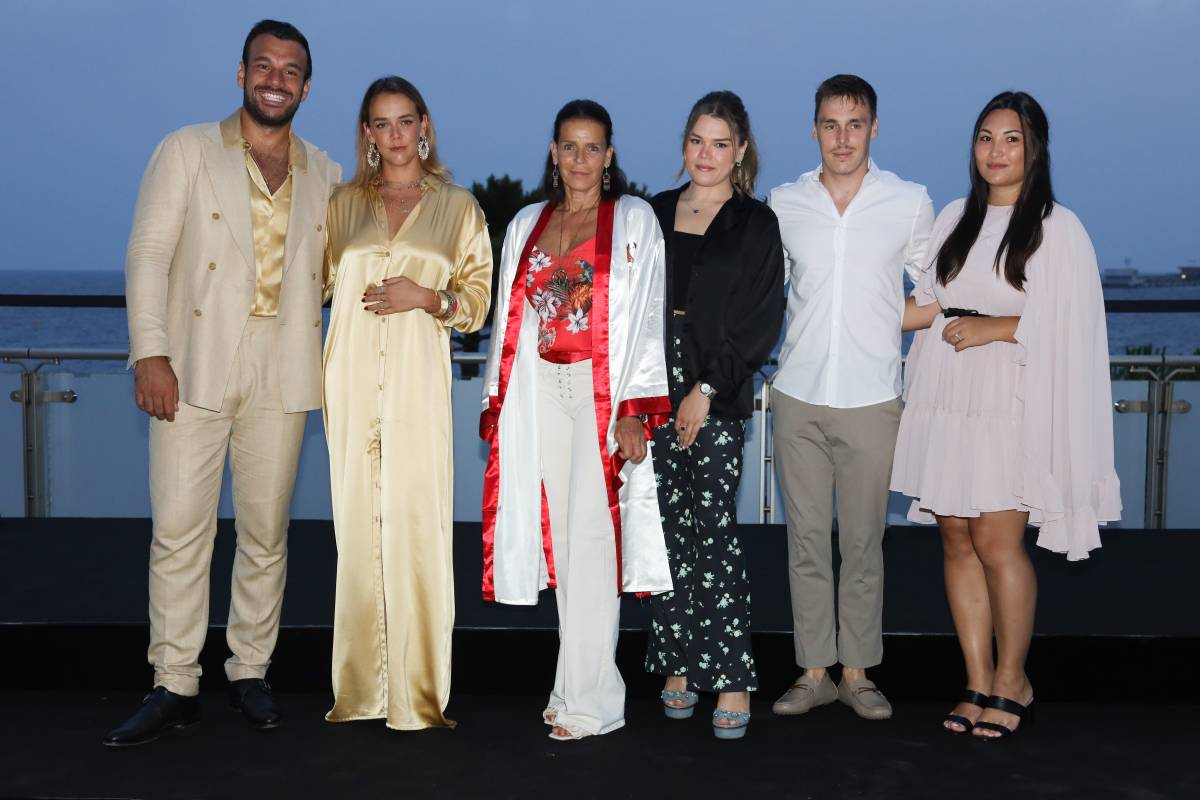 Fight Aids Gala: Princess Stephanie attends with all Three Children