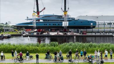 Photo of Royal Huisman's Phi is Launched and Ready to Shine and other yacht news