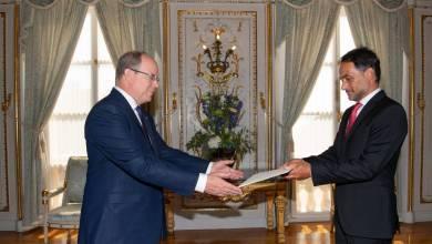 Photo of H.E.Giulio Alaimo, new Ambassador of Italy to the Principality of Monaco
