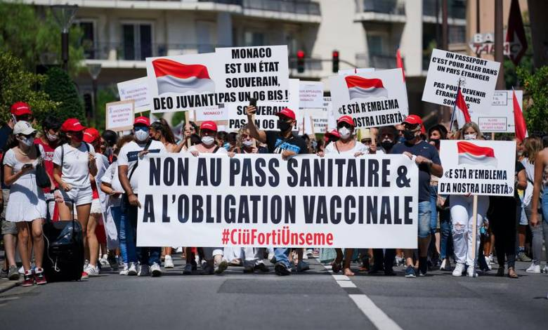 Peaceful demonstration against health pass took place in Monaco
